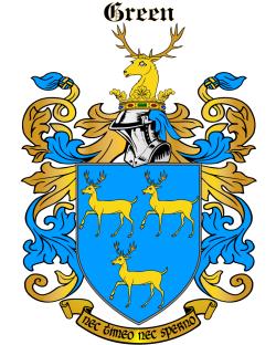 GREEN family crest