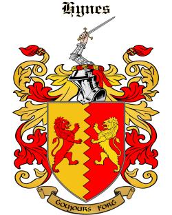HYNES family crest
